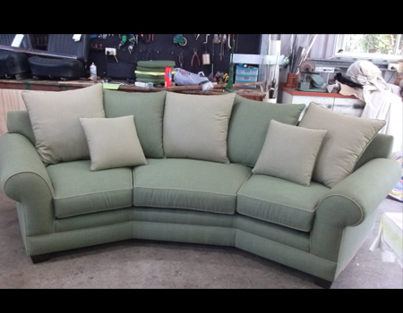 3 seater sofa re-upholstered