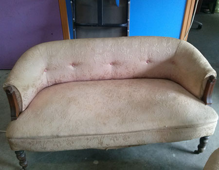 Antique daybed reupholstered Before