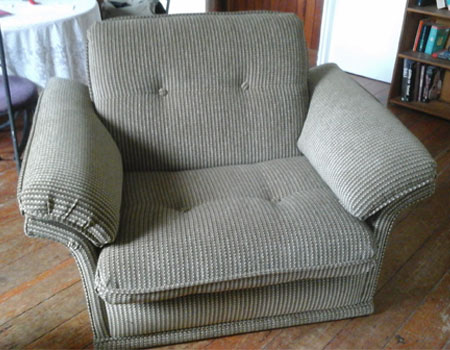 Arm Chair re-upholstered After
