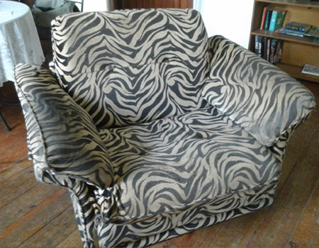 Arm Chair re-upholstered Before