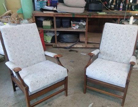 Chairs reupholstered After