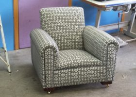 Arm chair new fabric
