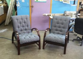 arm chairs reupholstered