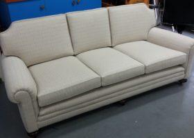 Sofa reupholstered