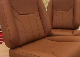 Car seats with new upholstery