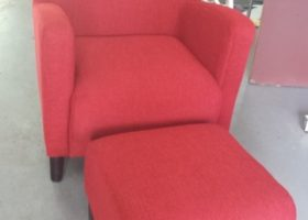 fabric upholstered set of chairs
