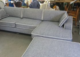 L Shaped Sofa and ottoman
